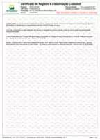 CRCC – Certificado de Registro e Classificação Cadastral – Número: 022077